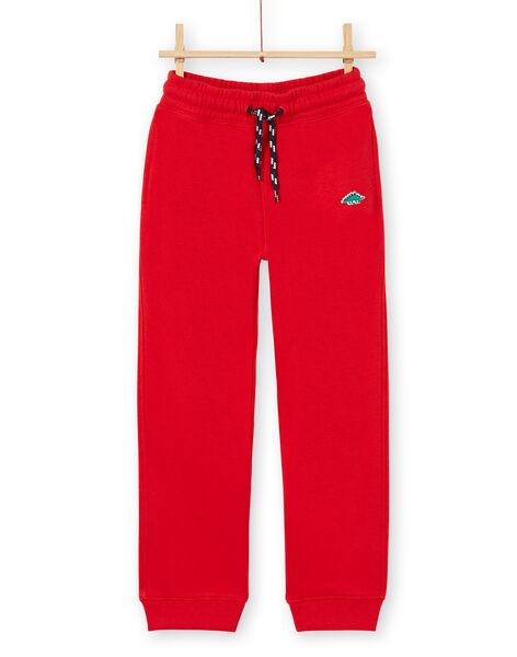 Jogging bottoms - child boy - red LOJOJOB4 / 21S90244JGB050