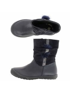 Girls' leather boots DFBOOTELLE / 18WK35T3D0D070