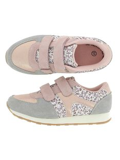Girls' leather sports trainers CFSPORTCER / 18SK35A4D14030