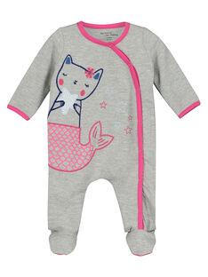 Baby girls' cotton sleepsuit FEFIGRESIR / 19SH1393GRE943