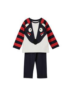 Boys' fleece pyjamas FEGOPYJBLAI / 19SH1249PYJ001