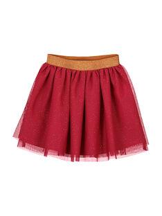 Girls' glitter tulle skirt FABAJUP2 / 19S90161JUP304