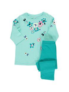 Girls' cotton pyjamas CEFAPYJFLO / 18SH1153PYJ203