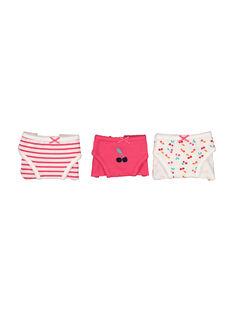 Pack of girls' briefs FEFALOTCER / 19SH1152SLI099