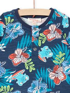 Short sleeve t-shirt baby boy blue LUBONTUN / 21SG10W1TMC717