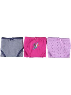 Pack of girls' briefs CEFALOTOIS / 18SH11V3SLI304