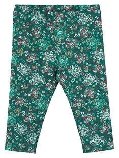 Baby girls' printed leggings GYIVELEG / 19WI0921CALG627