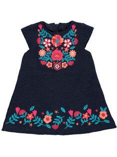 Baby girls' wool dress DITRIROB4 / 18WG09D3ROBC205
