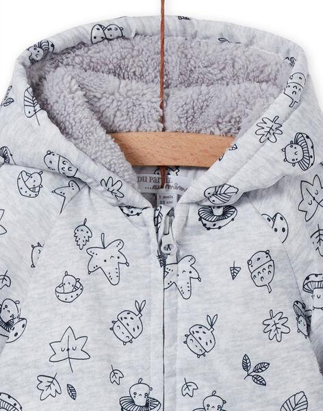 Fancy printed grey raincoat birth mixed MOU1PIL1 / 21WF0541PILJ920