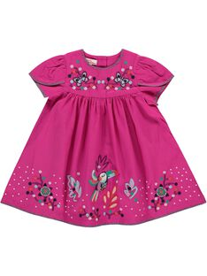 Baby girls' dress CIGAUROB2 / 18SG09L2ROB304