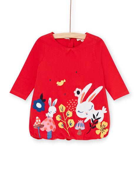 Baby girl red dress LIHAROB3 / 21SG09X2ROB505