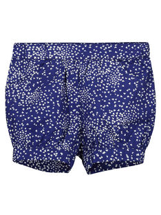 Baby girls' printed cotton shorts FINESHO / 19SG09B1SHO703