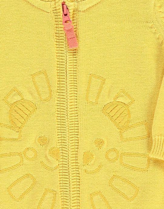 Baby boys' cotton cardigan CUJOGIL6B / 18SG10R7GILB102