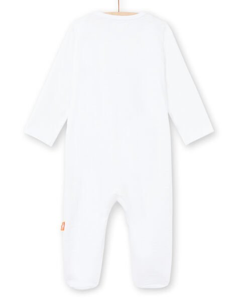 Baby boy white sleep suit with embroidery LOU2GRE3 / 21SF05I1GRE000