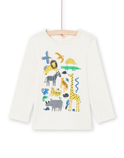 Boy's cream T-shirt MOKATEE1 / 21W902I1TML007