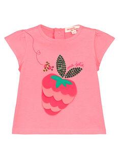 Baby girls' printed T-shirt FIYETI / 19SG09M1TMC309