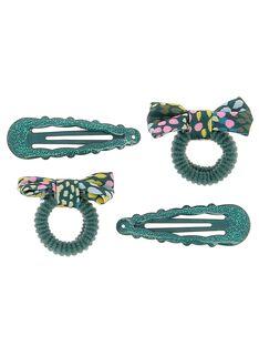 Set of girls' hair slides and hair bands DYAVECLIC2 / 18WI0172BRT714