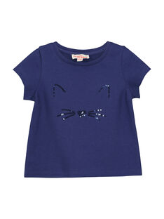 Baby girls' short-sleeved T-shirt FIJOTI4 / 19SG0934TMC703