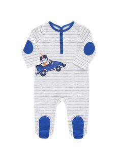 Baby boys' cotton sleepsuit CEGUGREBOL / 18SH1455GRE099