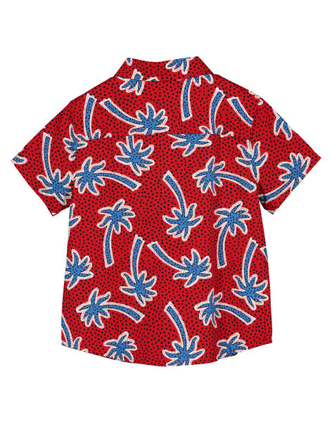 Boys' short-sleeved palm tree shirt FOTOCHEM / 19S902L1CHMF505