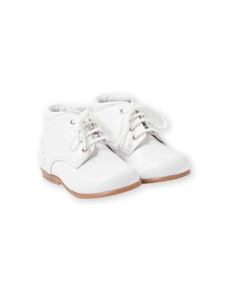 Baby boy white booties LBGBOTIESSB / 21KK3831D0F000