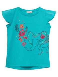 Medium turquoise T-shirt JABOTI3 / 20S901H2TMC209