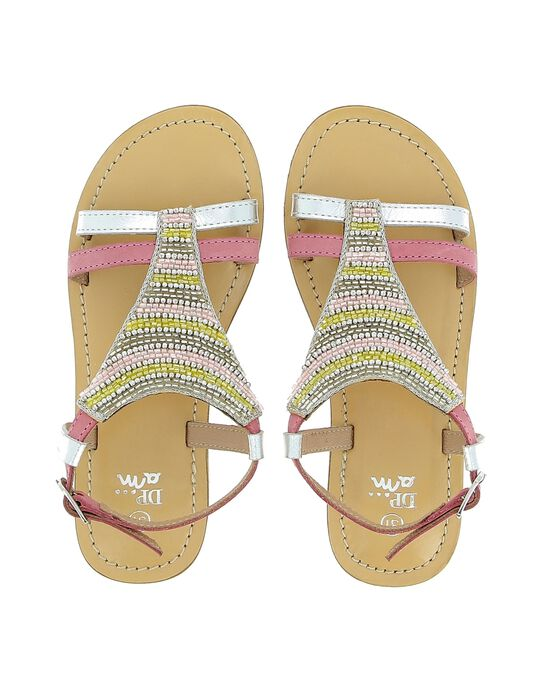 Girls' leather sandals CFSANDTRI / 18SK35WDD0E956