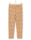 Baby girl floral print mustard leggings MYAMIXLEG1 / 21WI01J2CALB106