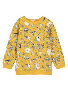 Boys' yellow printed sweatshirt FOJOSWE4 / 19S90234SWBB107