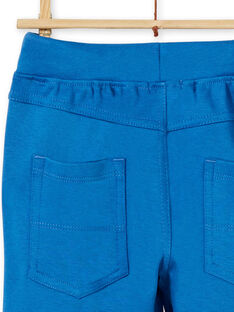 Blue cotton pants boy boy LOJOPAN1 / 21S90233PAN702