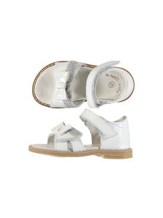 Baby girls' smart leather sandals FBFSANDVEL / 19SK37C3D0E000