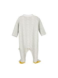Unisex babies' velour sleepsuit FOU1GRE3 / 19SF0513GRE099