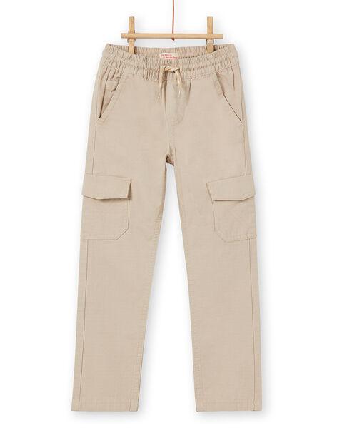 Beige cargo pants child boy LOJOPAMAT3 / 21S90241PANA014