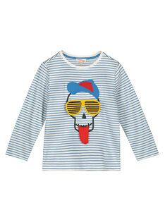 Boys' skull print T-shirt GOBLETEE1 / 19W90292TML001