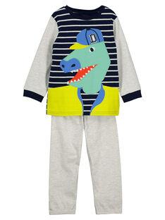 Boys' fancy fleece pyjamas FEGOPYJTYR / 19SH1299PYJ000