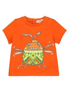 Baby boys' insect short-sleeved T-shirt FUYETI1 / 19SG10M1TMC400