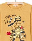 Boy's mustard T-shirt MOMIXTEE3 / 21W902J5TMLB101