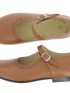 Girls' leather Mary-Janes DFBABSONIE / 18WK35T8D13804