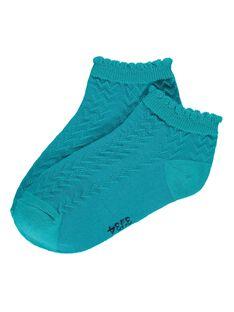 Girls' fancy ankle socks CYAJOCHO8A / 18SI01S1SOQ202