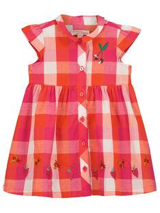 Baby girls' checked dress FIYEROB4 / 19SG09M4ROB000