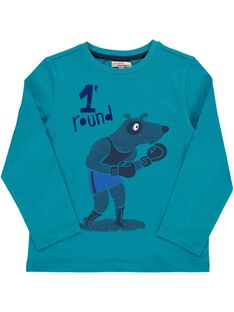 Boys' long-sleeved boxing T-shirt DOTRITEE5 / 18W902D5TMLC217