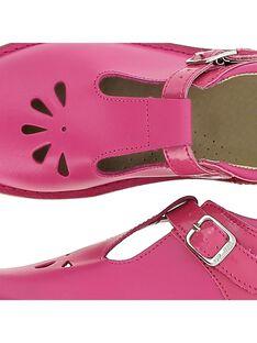 Girls' leather T-bar shoes CFSALSIE3 / 18SK35W3D3H304