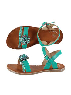 Smart leather and iridescent leather sandals FFSANDLO / 19SK35D6D0E202