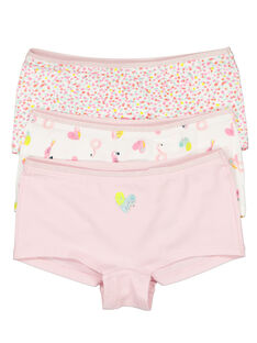 Pack of girls' shorties FEFAHOTPOI / 19SH11I1SHY099