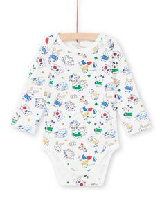 Baby boy long sleeve bodysuit with animal print MEGABODFER / 21WH14B8BDL001