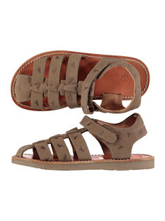 Boys' smart leather sandals FGSANDINO2 / 19SK36C2D0E803