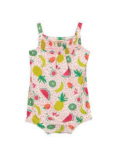 Baby girls' short bodysuit FIPLACOM1 / 19SG09P1CBL000