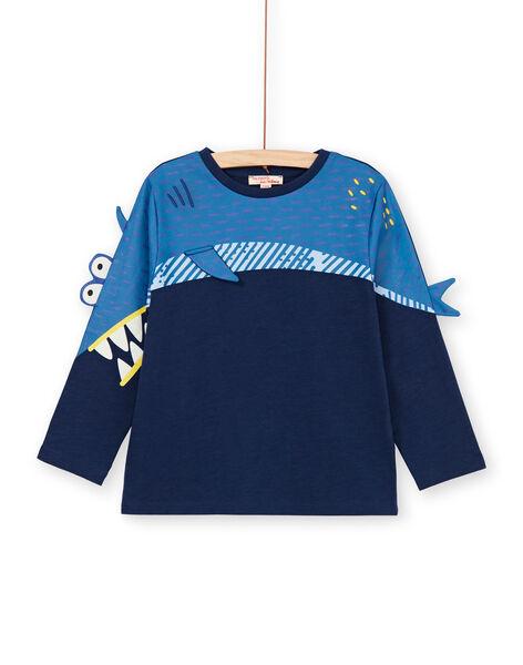 Blue shark animation T-shirt - Child Boy LONAUTEE2 / 21S902P1TML070
