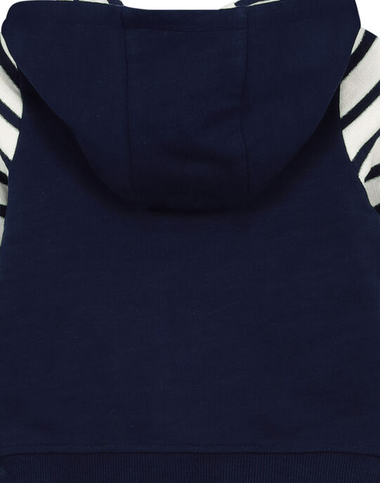 Baby boys' zipped hoodie FUNEGIL / 19SG10B1GIL713