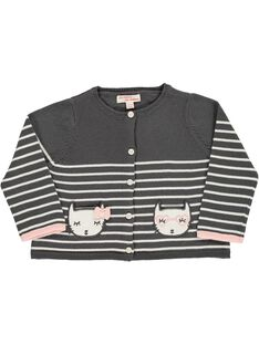 Baby girls' cotton cardigan CIBENCAR1 / 18SG09G1CAR099